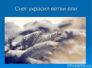 Снег украсил ветви ели