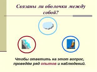 Связаны ли оболочки между собой? Чтобы ответить на этот вопрос, проведём ряд опы