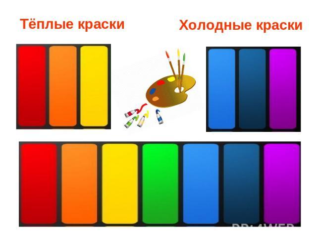 Тёплые краски Холодные краски