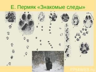 Е. Пермяк «Знакомые следы»