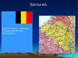 Бельгия. Бельгия столица – Брюссель. Государственный язык- Французскиий.