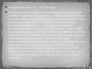 Янгиарыкский район(9)— пос. Янгиарык Хорезмская область является одним из агра