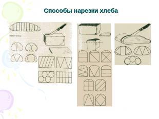 Способы нарезки хлеба