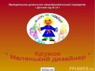 Муниципальное дошкольное общеобразовательное учреждение « Детский сад № 14 » 900