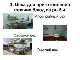 1. Цеха для приготовления горячих блюд из рыбы. Мясо- рыбный цех Овощной цех Гор