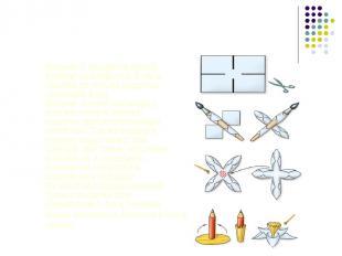Нарциссы Возьми 2 квадрата белой бумаги со стороной 5 см и сделай по бокам надре