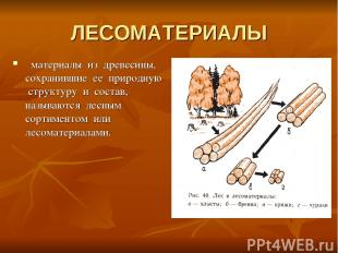 ЛЕСОМАТЕРИАЛЫ материалы из древесины, сохранившие ее природную структуру и соста