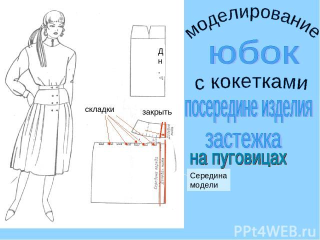 складки закрыть Середина модели Д н.