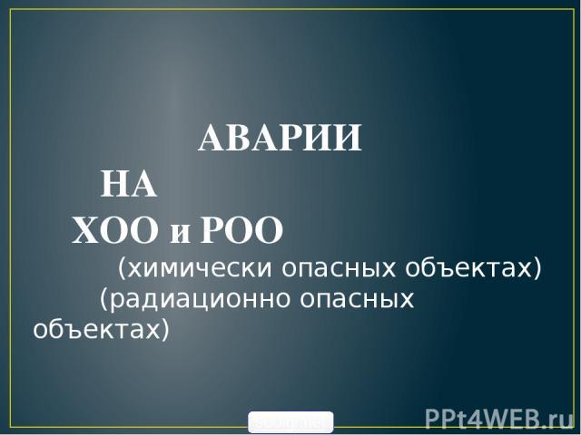 АВАРИИ НА ХОО и РОО (химически опасных объектах) (радиационно опасных объектах) 900igr.net
