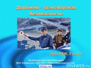 Белянская Светлана Ивановна МОУ Аннинская СОШ №3 с УИОП, Воронежская обл. 900igr