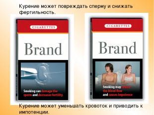 Курение может повреждать сперму и снижать фертильность. Курение может уменьшать
