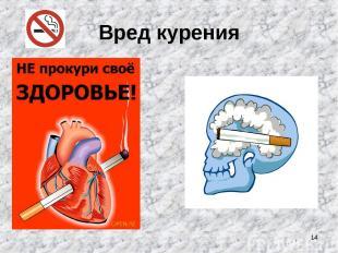 * Вред курения