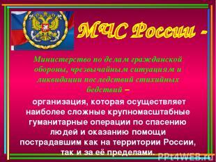 Министерство по делам гражданской обороны, чрезвычайным ситуациям и ликвидации п