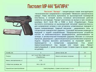 """Пистолет """"Багира"""" - концептуально новое конструкторско -технологическое направле"""