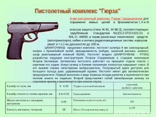 """9-мм пистолетный комплекс """"Гюрза"""" предназначен для поражения живых целей в броне"""