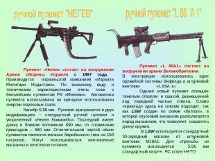 Пулемет «Негев» состоит на вооружении Армии обороны Израиля с 1997 года. Произво