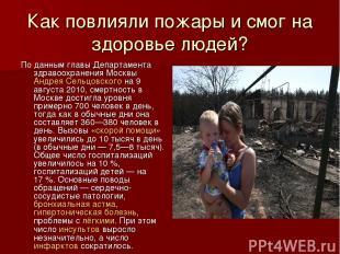 Как повлияли пожары и смог на здоровье людей? По данным главы Департамента здрав