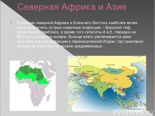 Северная Африка и Азия В странах северной Африки и Ближнего Востока наиболее вел