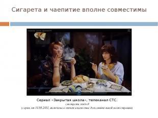Сигарета и чаепитие вполне совместимы Сериал «Закрытая школа», телеканал СТС. см