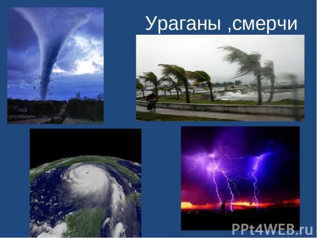 Ураганы ,смерчи