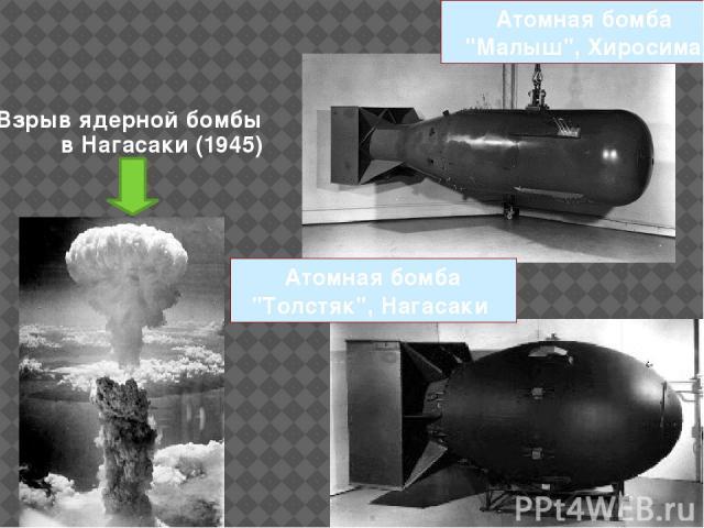 Взрыв ядерной бомбы в Нагасаки (1945) Атомная бомба