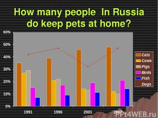 How many people In Russia do keep pets at home?