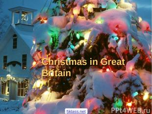 Christmas in Great Britain 5klass.net