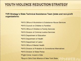 NYS Office of Alcoholism & Substance Abuse Services NYS Council on Children & Fa