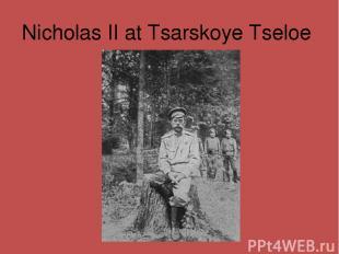 Nicholas II at Tsarskoye Tseloe