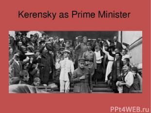 Kerensky as Prime Minister