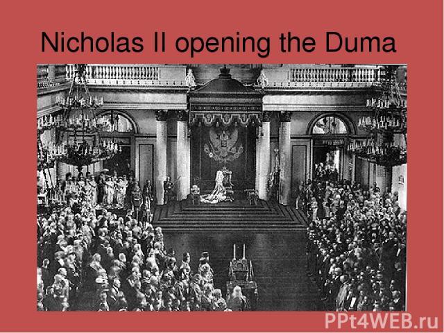 Nicholas II opening the Duma