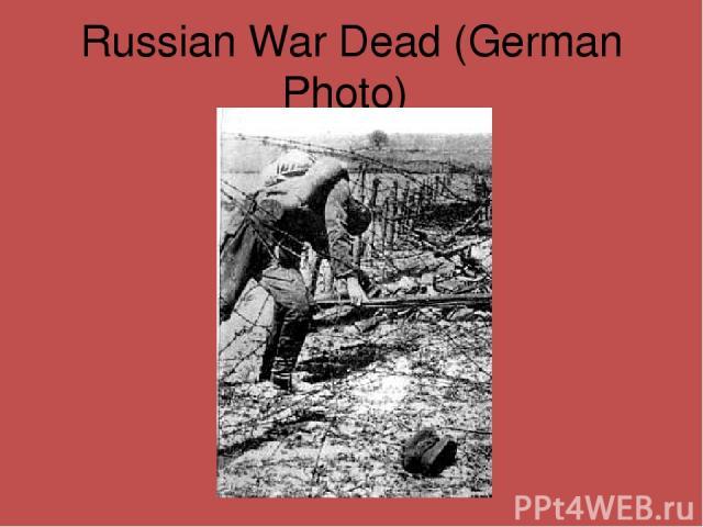 Russian War Dead (German Photo)