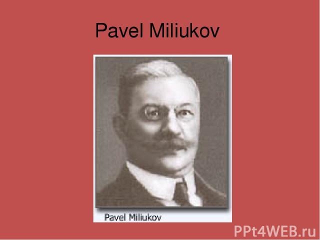 Pavel Miliukov