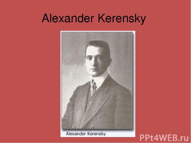 Alexander Kerensky