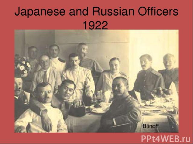 Japanese and Russian Officers 1922