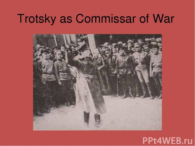 Trotsky as Commissar of War