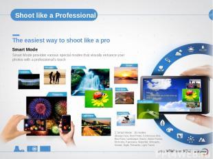 17 Shoot like a Professional The easiest way to shoot like a pro Smart Mode prov