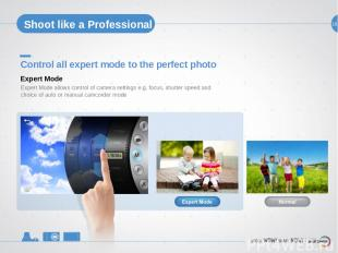 18 Shoot like a Professional Control all expert mode to the perfect photo Expert
