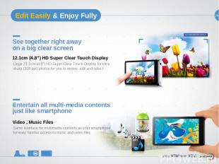 """24 See together right away on a big clear screen Large 21.1cm (4.8"""") HD Super Cl"""