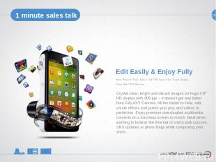 24 29 1 minute sales talk Edit Easily & Enjoy Fully Crystal clear, bright and vi