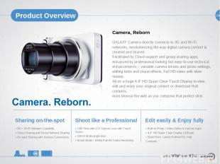 09 Product Overview Camera, Reborn GALAXY Camera directly connects to 3G and Wi-