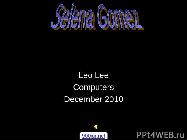 Leo Lee Computers December 2010 900igr.net