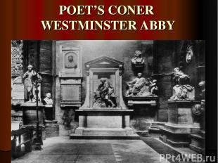 POET'S CONER WESTMINSTER ABBY