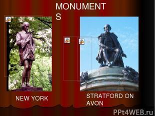 NEW YORK STRATFORD ON AVON MONUMENTS