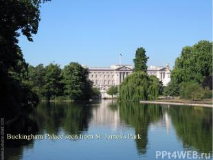 Buckingham Palace seen from St. James's Park