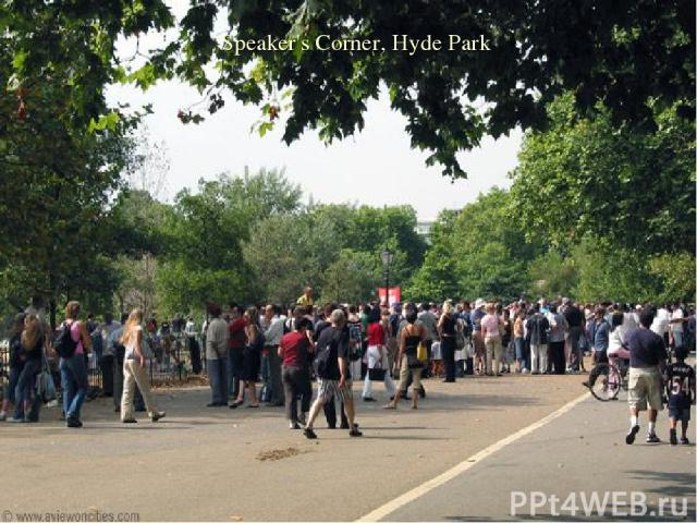 Speaker's Corner, Hyde Park