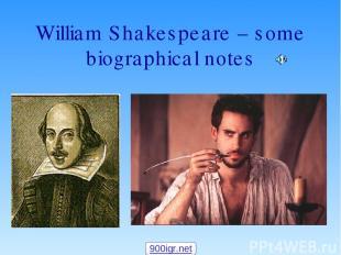 William Shakespeare – some biographical notes 900igr.net