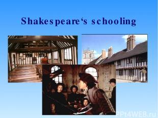 Shakespeare's schooling
