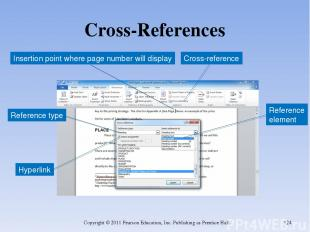 Cross-References Copyright © 2011 Pearson Education, Inc. Publishing as Prentice