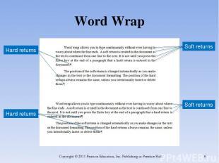 Word Wrap Copyright © 2011 Pearson Education, Inc. Publishing as Prentice Hall.